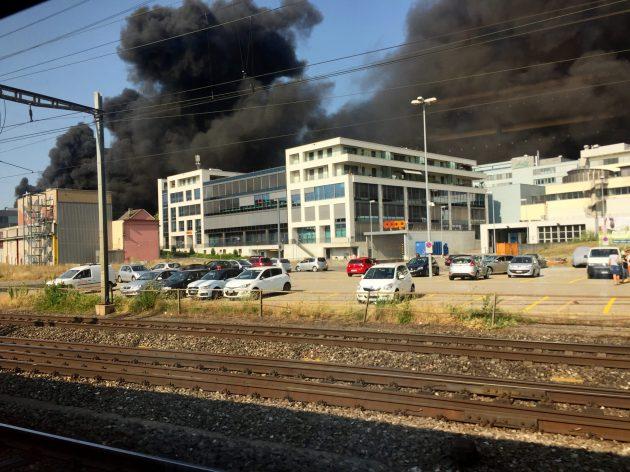 Brand Aarepark Olten