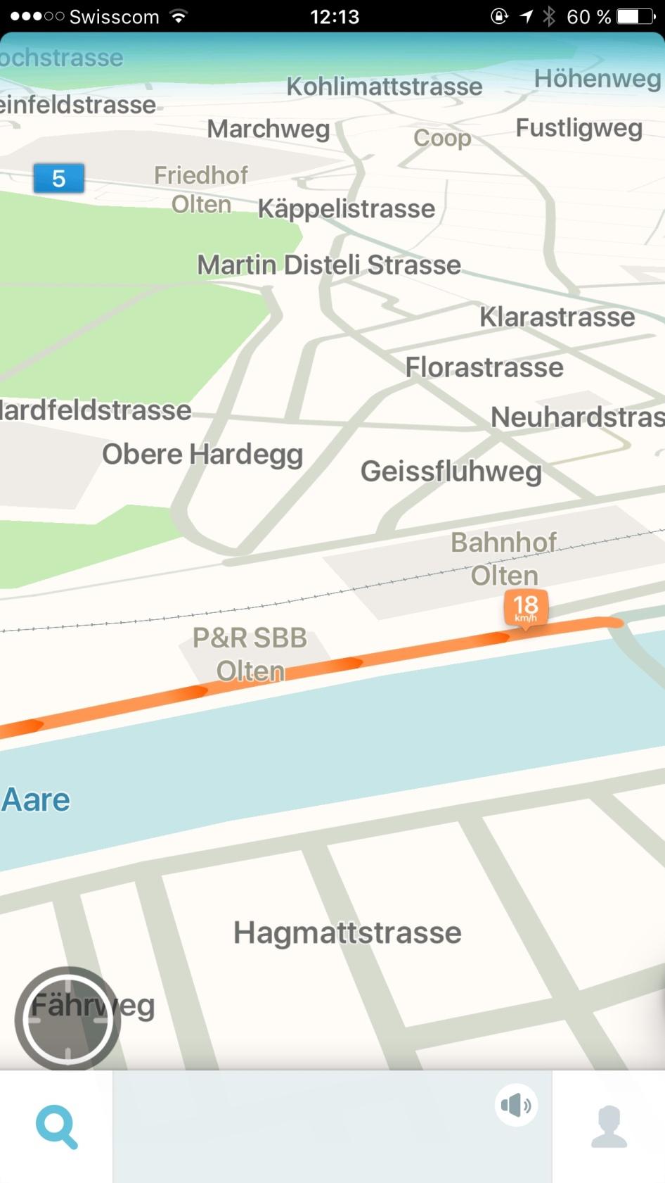 Waze Strassennavigation Olten
