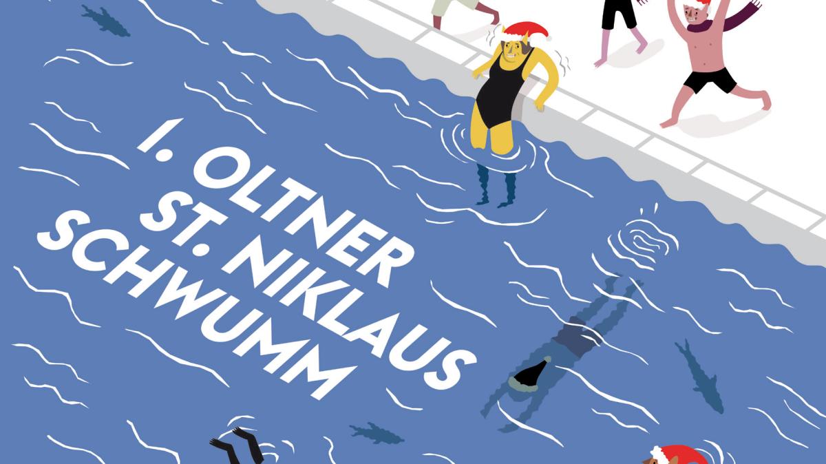 """Yachtclub Olten organisiert den """"1. Oltner St. Niklaus Schwumm"""" in derAare"""