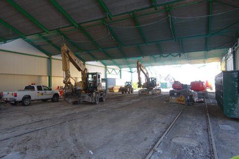 Abbruch alte Halle für Projekt SBB OL_3x150m