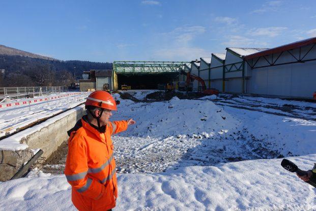 Baugrube für SBB OL_3x150m