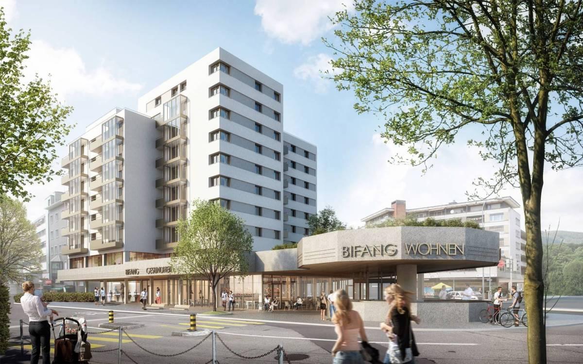 Umgestaltung Bifang-Hochhaus unterstreicht Quartier-Aufbruch