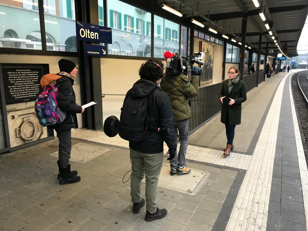 Sendehinweis: Westschweizer Fernsehen RTS heute zu Besuch inOlten