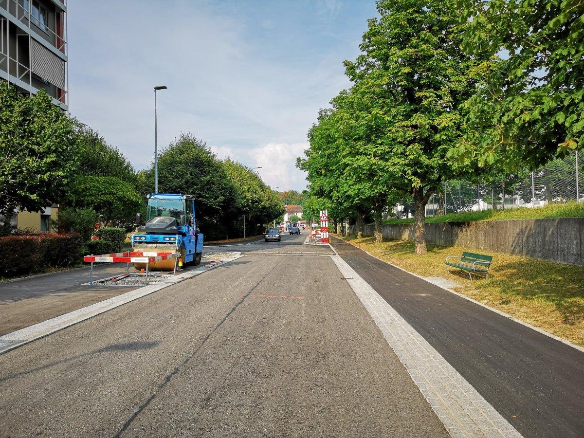 Mehr als 1,5 Jahre Bauzeit für eine 379 Meter lange OltnerQuartierstrasse