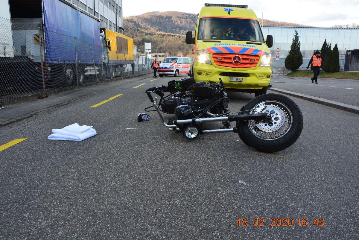Schwerer Verkehrsunfall im Industriequartier