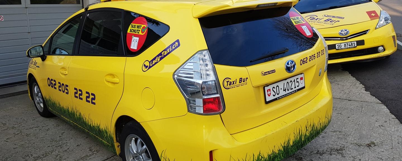 Taxi Bur Olten mit Hygiene für Kunden